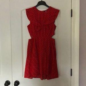 Bardot Kara frill dress